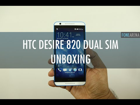 HTC Desire 820 Dual SIM Unboxing