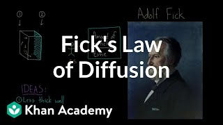 Fick's law of diffusion   Respiratory system physiology   NCLEX-RN   Khan Academy