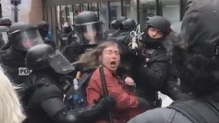 Protester MAYHEM in Portland Oregon - Police arrests  2/20/17