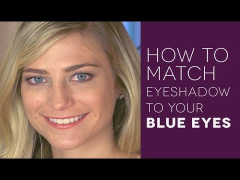 How to Match Eye Shadow to Eye Color: Blue Eyes