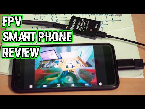 FPV in Smart Phone OTG VRx Review || Eachine ROTG01