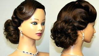 Vintage Updo, Hairstyle For Medium Long Hair.