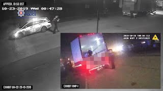 video: Watch: CCTV shows police arriving at scene of lorry deaths in October