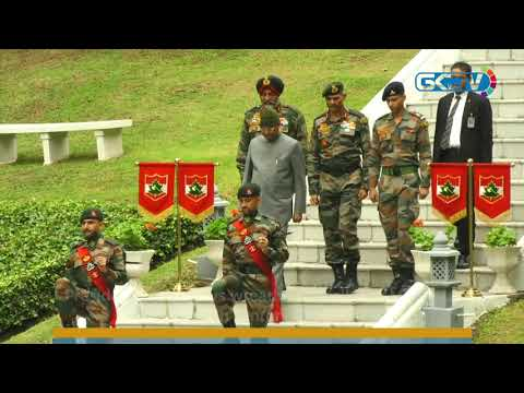 President Kovind lays wreath at Kargil War Memorial in Badamibagh cantonment in Srinagar