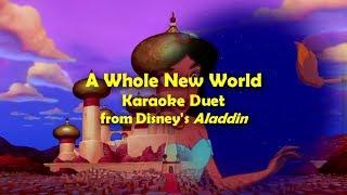 Aladdin | A Whole New World | Karaoke Duet