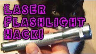 Amazing Lasers! - Laser Flashlight Hack!
