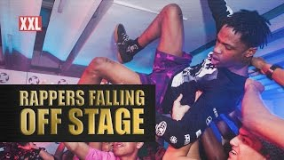 Rappers Falling Off Stage