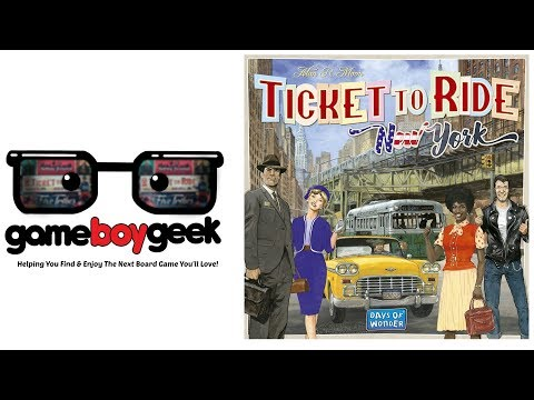 The Game Boy Geek Reviews Ticket to Ride New York