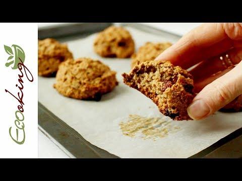 Вкуснейшее Овсяно-яблочное печенье с имбирем / vegan / gluten free