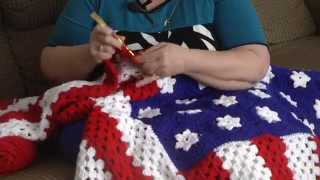 Woman Gives 150 American Flag Afghans Away