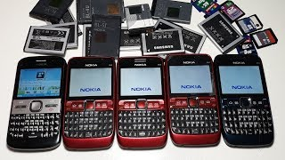 Шикарный выигрыш  Nokia E5-00. Nokia E63 RED / BLUE . Ретро телефоны из Германии  перекупа аукциона