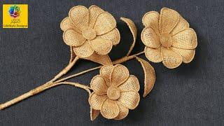 Easy Burlap Jute Flower Tutorial | Home Decorating Ideas Handmade