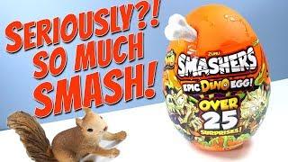 SMASHERS Series 3 Epic Dino Egg Over 25 Surprises! ZURU