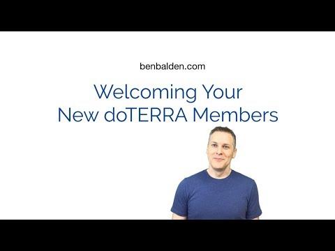 Welcoming New Members in doTERRA - doTERRA Business Training