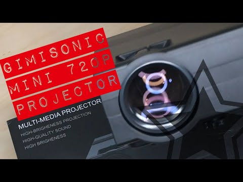 Unboxing GIMISONIC Mini 720p Projector
