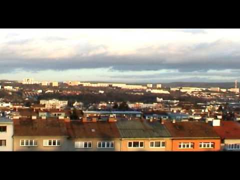Pohled z okna na Purkyňových kolejích