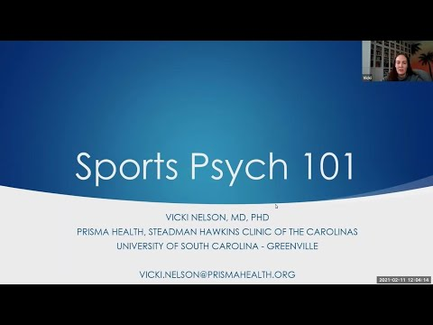Sports Psychology 101   National Fellow Online Lecture Series