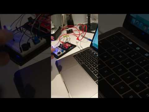 My student's first programmed arduino circuit project.