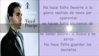 NO HACE FALTA CON LETRA - CRISTIAN CASTRO