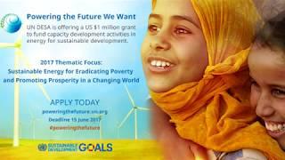 Powering the Future We Want - the US $1 Million UN DESA Energy Grant