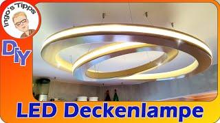 LED Deckenleuchte selber bauen rund exclusives Design Ringe des Saturn schwebend DIY IngosTipps
