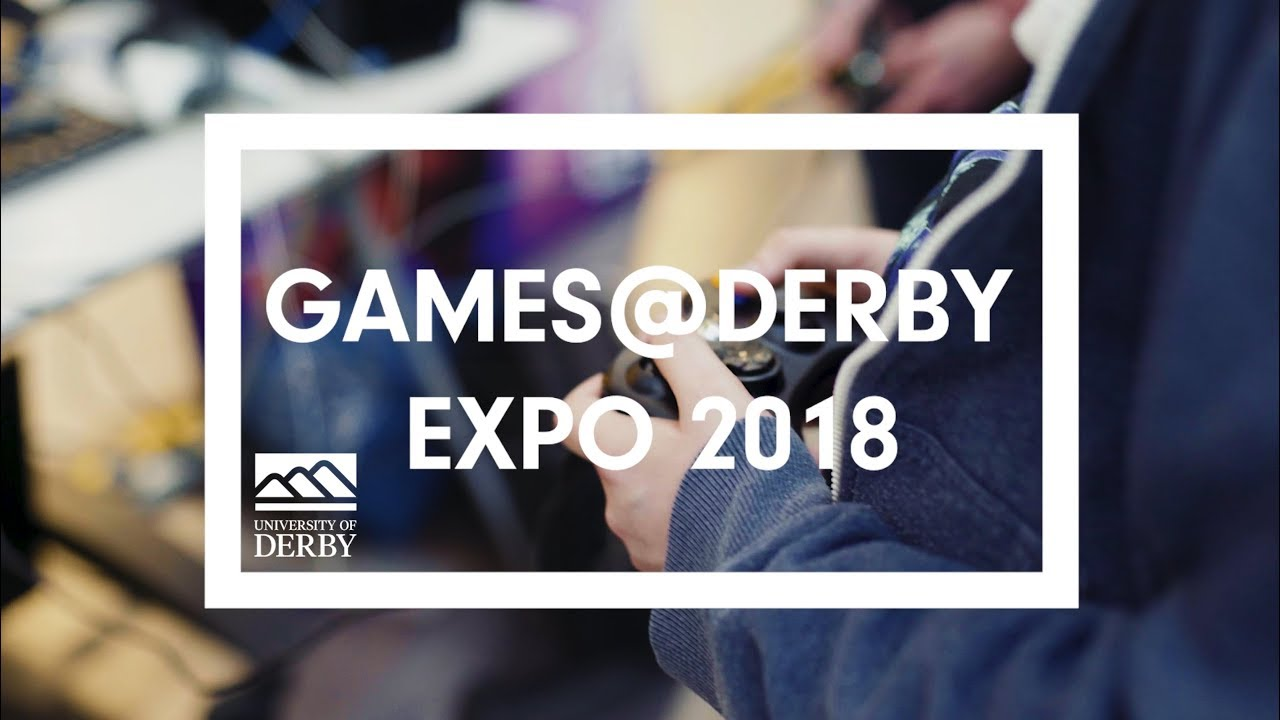 Final year students on BA Computer Games Modelling and Animation & BSc Computer Games Programming exhibiting at Games Expo 2018