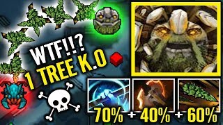 WTF Battle Fury 1st item - 170% Splash Damage Crazy Tiny by Topson 1000 GPM/XPM 7.19 Imba Dota 2