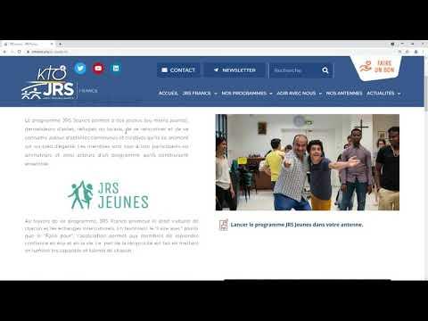 Le site web de JRS France