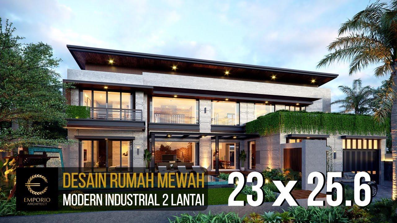 Video 3D Mrs. Wijaya Modern Industrial House 2 Floors Design - Yogyakarta