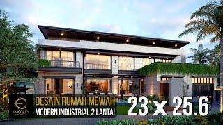 Video Desain Rumah Modern Industrial 2 Lantai Ibu Wijaya di  Yogyakarta