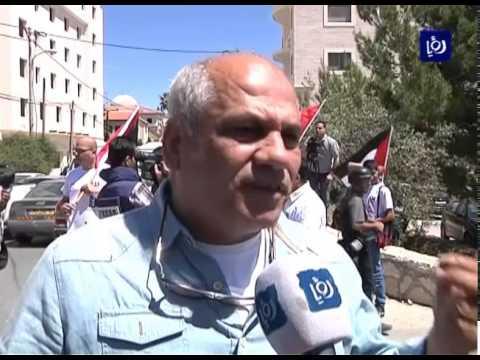 الاحتلال يقمع مسيرة للصحفيين الفلسطينيين في اليوم العالمي لحرية الصحافة في بيت لحم 2/5/2015