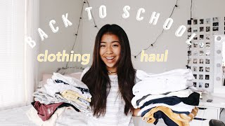 BACK TO SCHOOL TRY-ON CLOTHING HAUL