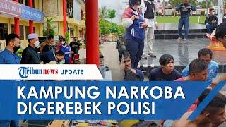 Detik-detik Penggerebekan Kampung Narkoba di Tangga Buntung Palembang, Polisi Dihujani Mercon