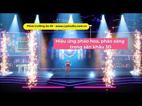 Phim Trường 3D – (p1) Hiệu ứng pháo hoa, pháo sáng trên sân khấu 3D