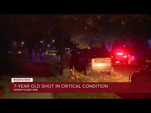 7-year-old in critical condition after drive-by shooting on Detroit's east side