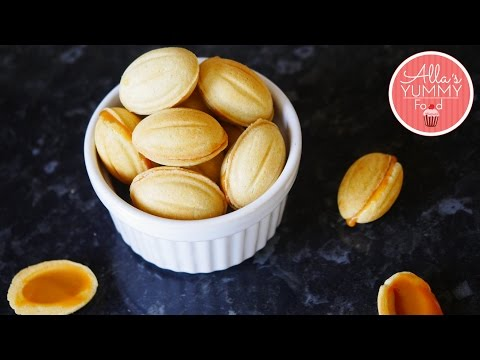 Russian Walnut Shaped Cookies | Oreshki Recipe