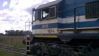 preview picture of video 'Ferrosur Roca GT-22 9016 Acople y Visita a la Cabina en Colonia San Miguel, Olavarria Parte II'