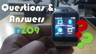 DZ09 SmartWatch Most Frequently Asked Questions and Answers