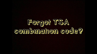 3-Minutes How to Unlock TSA Combination Lock (EASY)