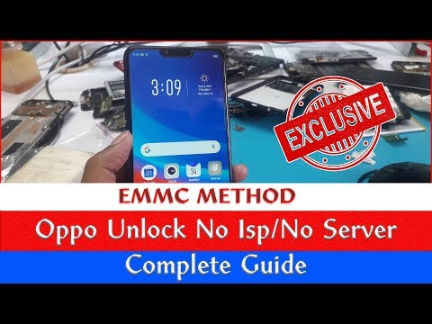 Oppo Pattern / Password / Pin Lock Remove without Server without ISP Connection / EMMC Method