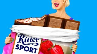 7 DIY Giant Candy vs Miniature Candy / Edible Pranks!