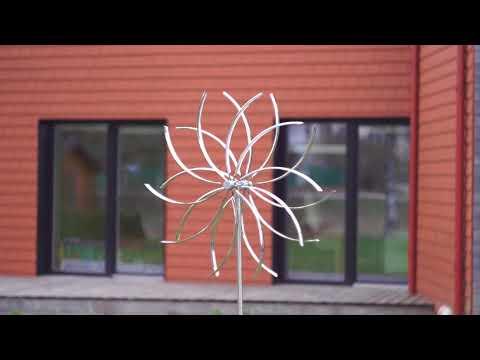 Roostevabast terasest kineetiline tuulelipp Pöörlev lill