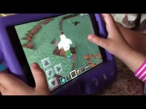 Minecraft PE rare mob spawn, chicken riding a baby zombie - comment if you know the odds!