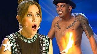 Contestant Sets Himself On FIRE On Spain's Got Talent!   Got Talent Global