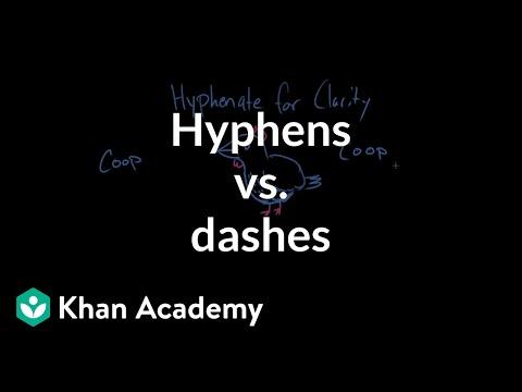hyphen is