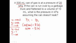 Solving Combined Gas Law Problems - Charles' Law, Boyle's Law, Lussac's Law
