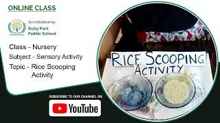 Nursery | Rice Scooping Activity | Sensory Activity | Fine Motor Skills | Ruby Park Public School Thumbnail