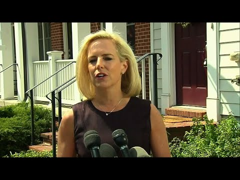 Kirstjen Nielsen said Monday she still shares President Donald Trump's goal of securing the border, a day after she resigned as Homeland Security secretary amid Trump's frustration and bitterness over a spike in Central American migration. (April 8)