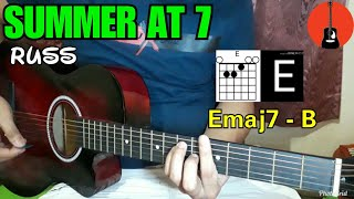 Russ   Summer At 7 Guitar Cover   Guitar Tutorial And Chords