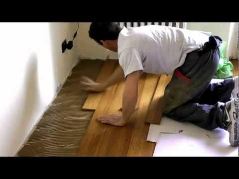 Parquet bamboo. Come posare il parquet prefinito di bamboo. Videoguida